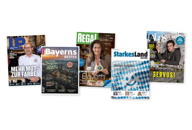 Mehrere Zeitschriften liegen nebeneinander.